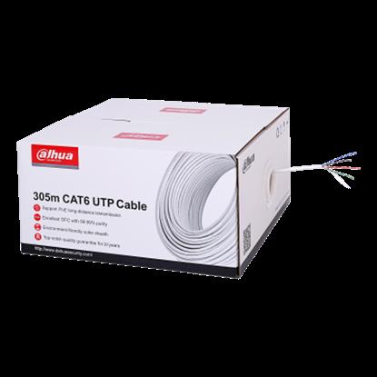 Resim EZ-IP PFM923I-6UN 305m UTP CAT6 LSZH Kablo (Yanmaz Kablo)